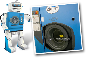 Crest Cleaners robot with washingmachine