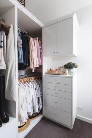 Image of organized closet.