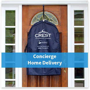 Try Crest Advanced Cleaners' concierge dry cleaning service.