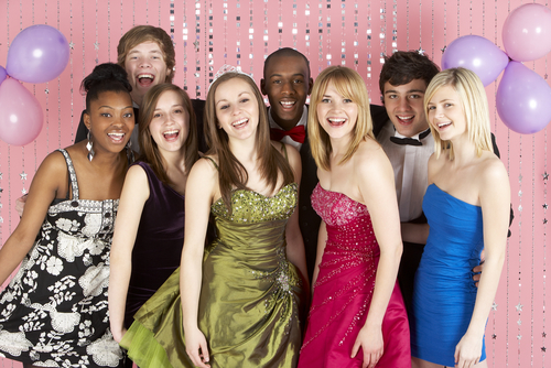 Image of Multi-Racial Group at the Prom